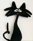 Chat noir fou Photos stock