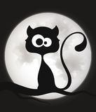 Chat noir heureux de Veille de la toussaint Photo stock