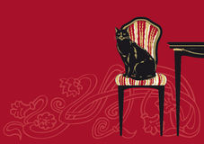 Chat noir moderne Images stock