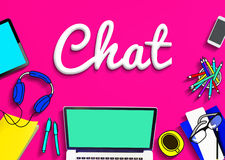 Chat Online Communication Technology Social Networking Concept Royalty Free Stock Image