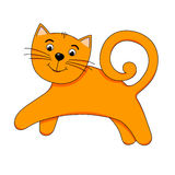 Chat orange gai illustration stock