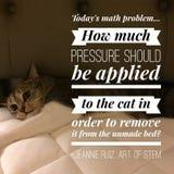 Chat paresseux de chat de citation drôle d'humeur photo stock