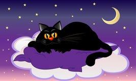 Chat rêveur illustration libre de droits