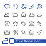 Chat Room Icons // Line Series Royalty Free Stock Photo