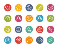 Chat Room Icons -- Printemps Series Royalty Free Stock Photography