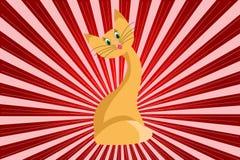 Chat rouge Illustration Libre de Droits