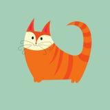 Chat rouge illustration de vecteur