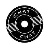 Chat rubber stamp Stock Image