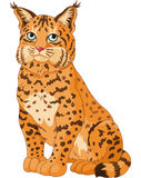 Chat sauvage illustration stock