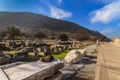 Chat se dorant au soleil chez Ephesus image stock