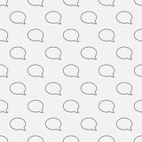 Chat seamless pattern Royalty Free Stock Photos