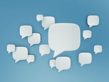 Chat shape cloud on blue sky. Chat shape clouds on blue sky background Royalty Free Stock Image