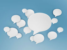 Chat shape cloud on blue sky. Chat shape clouds on blue sky background Stock Photos