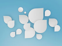 Chat shape cloud on blue sky. Chat shape clouds on blue sky background Stock Image