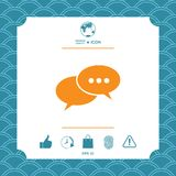 Chat sign icon. Element for your design Royalty Free Stock Images