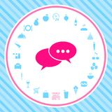 Chat sign icon royalty free illustration