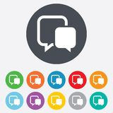 Chat sign icon. Speech bubble symbol. Stock Photos