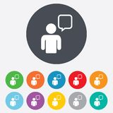 Chat sign icon. Speech bubble symbol. Royalty Free Stock Image