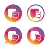 Chat sign icon. Speech bubble symbol. Royalty Free Stock Photo