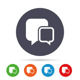Chat sign icon. Speech bubbles symbol. Royalty Free Stock Images