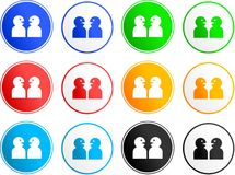 Chat sign icons Royalty Free Stock Images