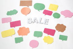 Comic balloons and sale royalty free stock image