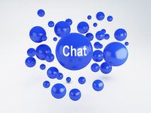 Chat sign. Social network  concept. Bubble  chat sign. Social network concept. 3d illustration Stock Photography