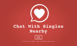 Chat with Singles Nearby Love Romance Online Concept Stock Image