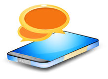 Chat on smartphone Royalty Free Stock Photo