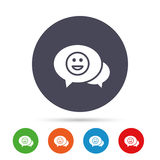 Chat Smile icon. Happy face symbol. royalty free illustration
