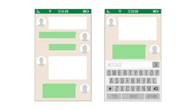 chat sms application template stock vector illustration of color comic 40892497. Black Bedroom Furniture Sets. Home Design Ideas