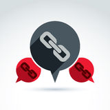 Chat on social relationship. Vector speech bubble sign  Stock Photography