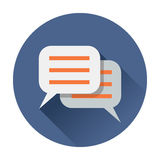 Chat speach bubble icon Royalty Free Stock Photography