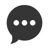 Chat speakbox isolated icon over white background, Stock Photo