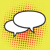 Chat Speech Balloons or Bubbles Pop Art Vector Illustration Icon. Yellow Background Stock Photography