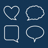 Chat speech bubbles Stock Images
