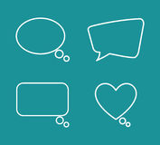 Chat speech bubbles Royalty Free Stock Photos