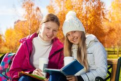 Chat talks and homework Royalty Free Stock Images