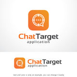 Chat Target Logo Template Design Vector, Emblem, Design Concept, Creative Symbol, Icon. This design suitable for logo or icon Stock Photography