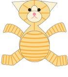 Chat tigré bourré malicieux Images stock
