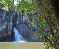 Chat trakan waterfall namtok ,chat trakan national park, Royalty Free Stock Images