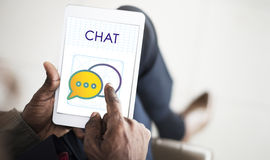 Chat Trends Interact Connection Discussion Concept Royalty Free Stock Image