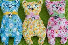 Chat tricoté fait main Image stock