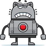Chat triste de robot Photographie stock