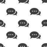 Chat, vector seamless pattern Royalty Free Stock Image