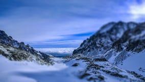 Chata de ZbojnÃcka Grande vale frio Dolina do ¡ de Studenà do ¡ do kà do ¾ de VeÄ Tatras elevados Imagem de Stock