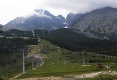 chata i berg, Slovakien Europa Arkivbilder