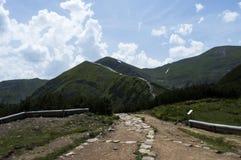 chata i berg, Slovakien Europa Fotografering för Bildbyråer