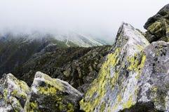 chata i berg, Slovakien Europa Arkivbild