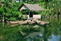 chata łodzi Obrazy Stock